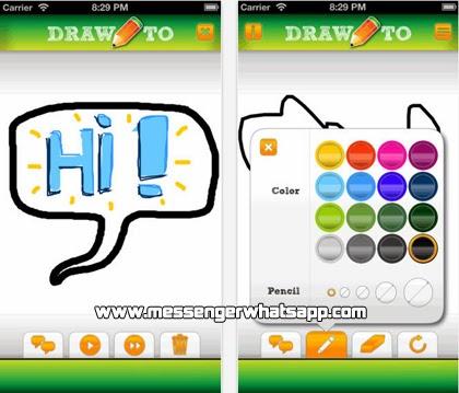 Dibuja y compartelo con Drawto para WhatsApp