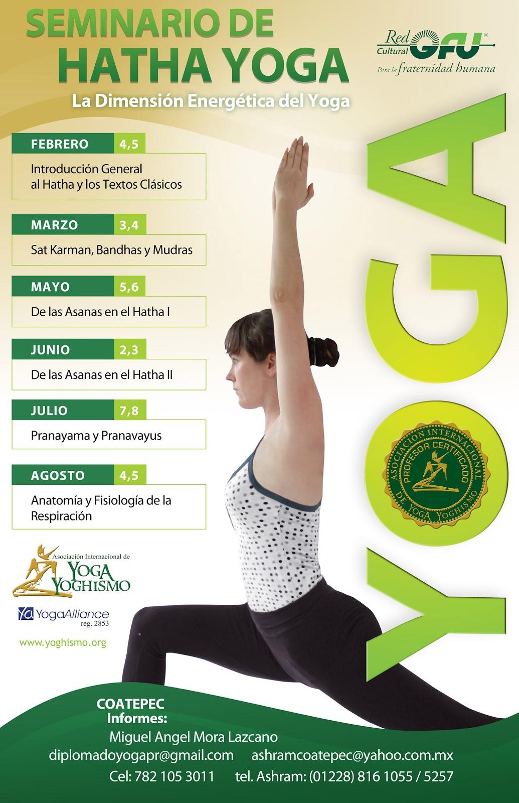 Noticias RedGFU: Seminario de hatha yoga en Coatepec, México