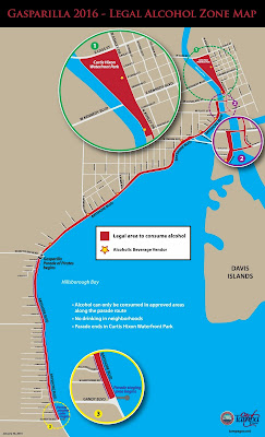 Gasparilla Wet Zone Map 2016