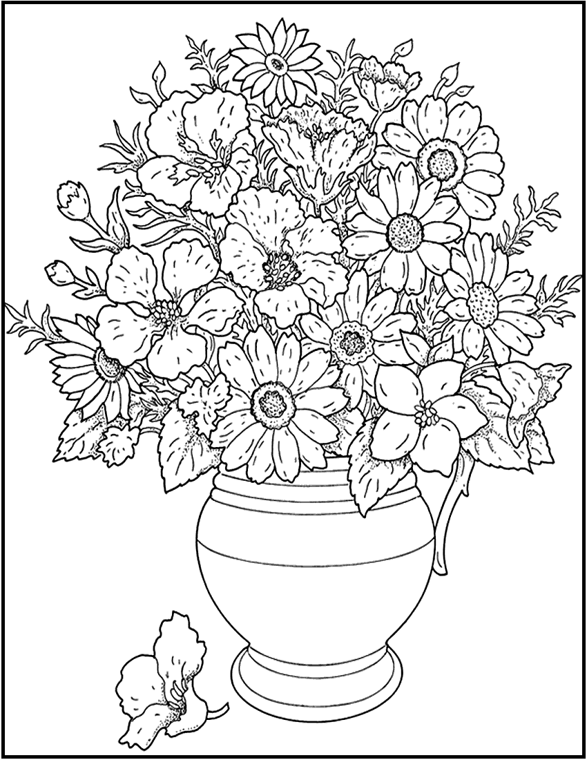 Free Printable Flower Coloring Pages Adult