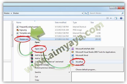 Gambar: Membuka Kode Template Blog Hasil Download