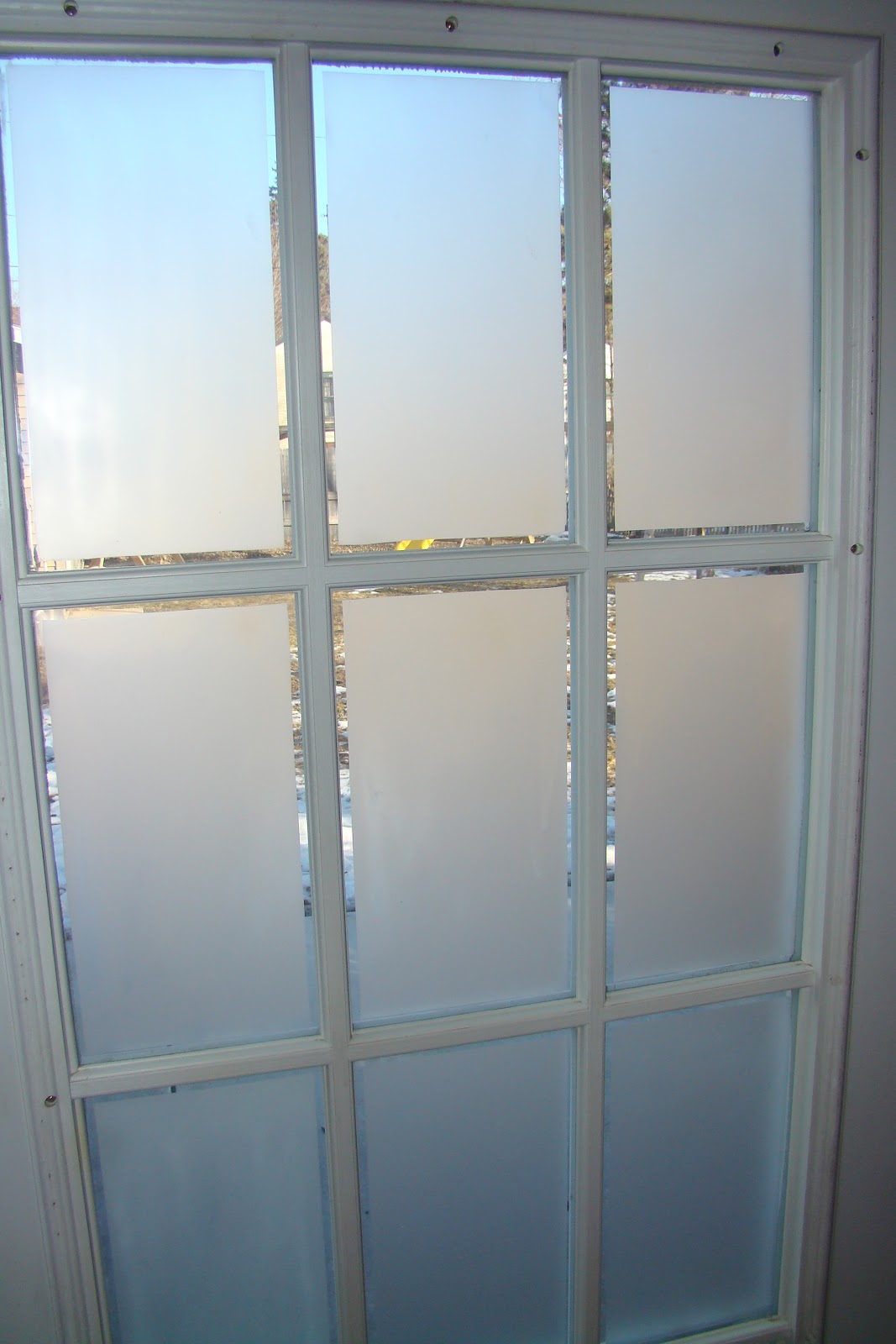 Another view of the finished window & Cindy Riddle: Frosted Glass on French Doors Pezcame.Com