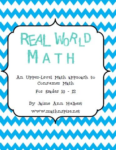 Math-n-spire: Real World Math {aka Consumer Math}