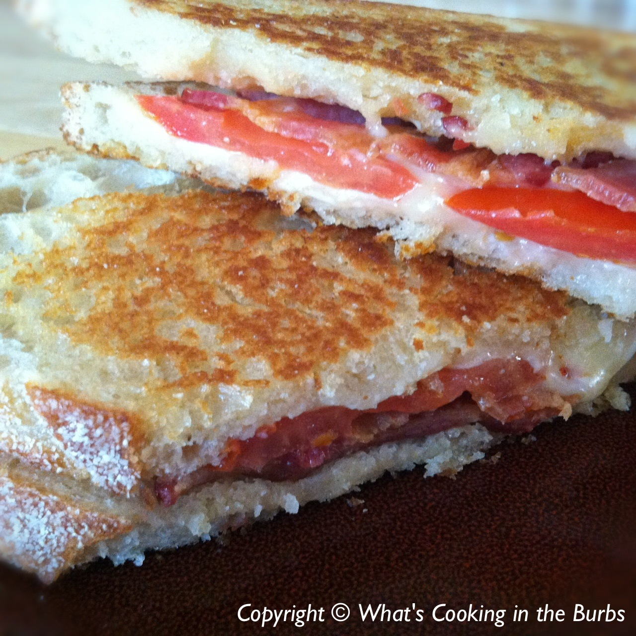 ... cooking in the burbs: White Cheddar, Bacon, and Tomato Grilled Cheese