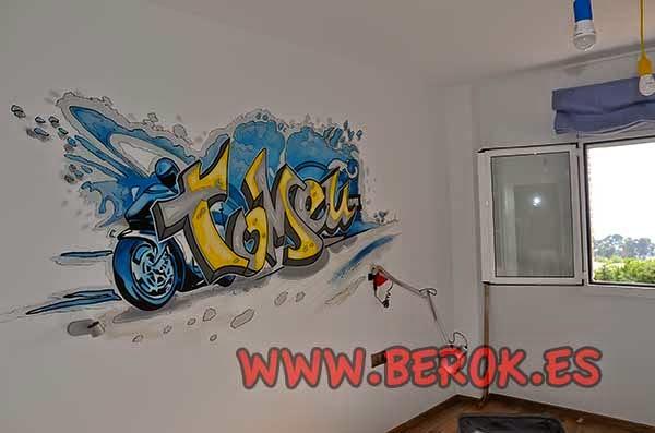 Graffitis para habitaciones de adolescentes