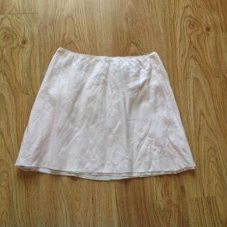 upcycled skirt, easy skirt, tutorial