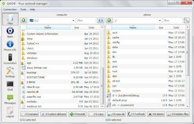 QtADB=>Files - Mange (copy, move and delete) files and directories.