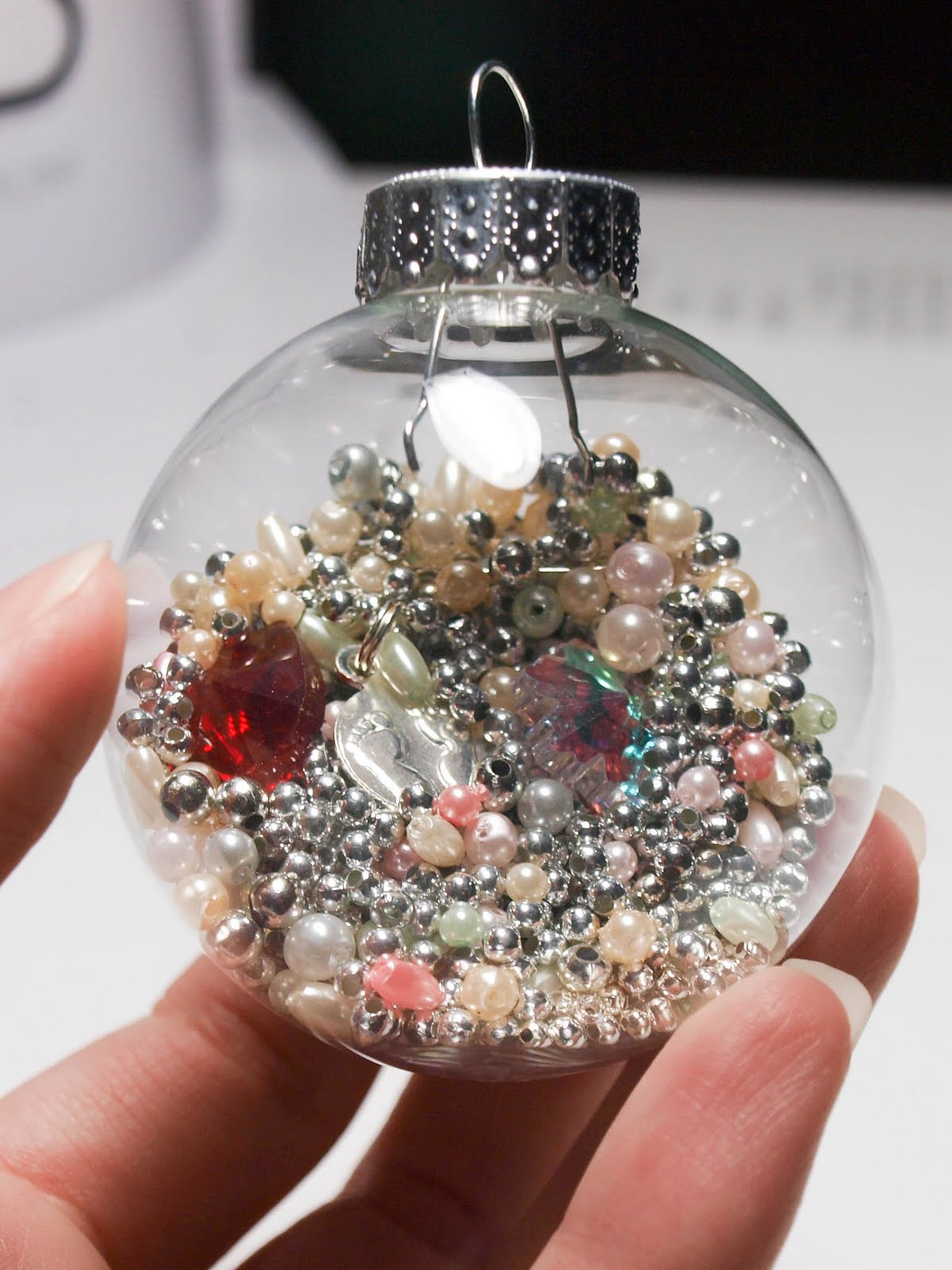 Christmas Ornament Craft Clear Balls : Cook love craft diy i spy ornament for kids