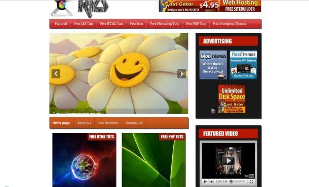 Free Red Black Jquery WordPress Theme