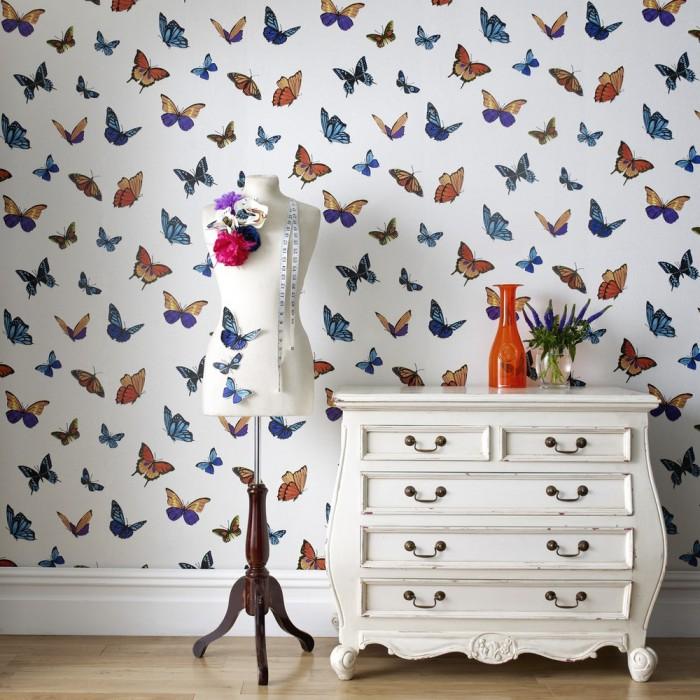 papier peint papillon