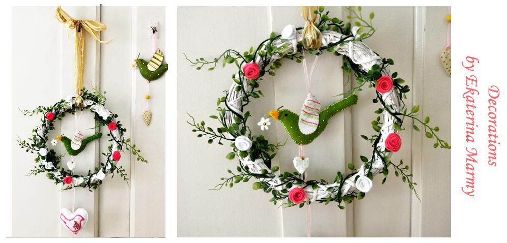 Как сделать своими руками венок на двери новогодней