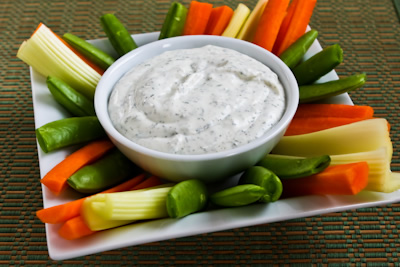 Grandma Denny's From-Scratch Ranch-Style Vegetable Dip found on KalynsKitchen.com