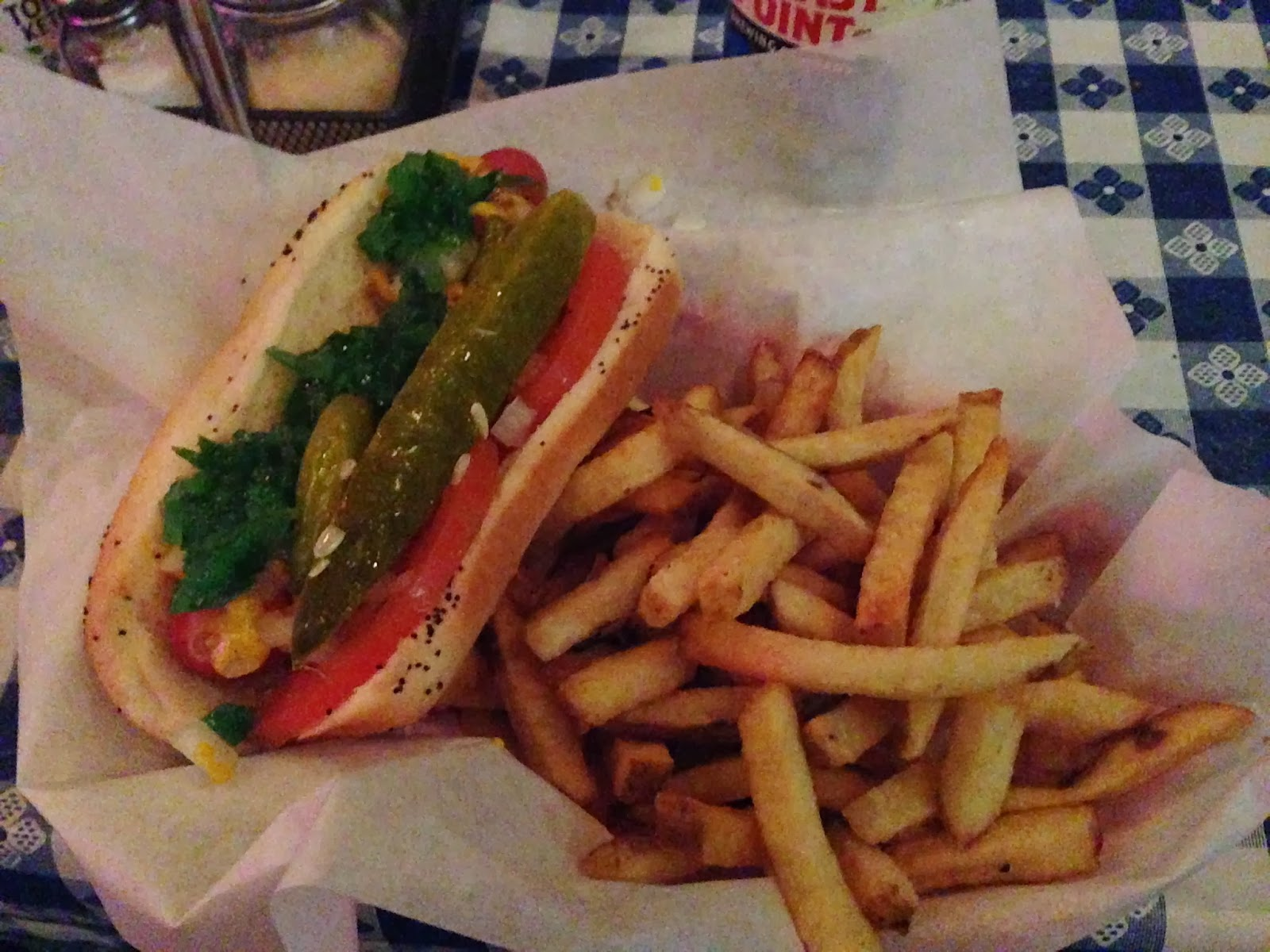 Chicago Hot Dog Place Rude