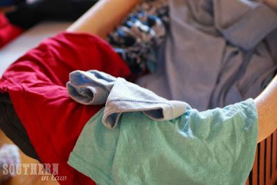 Washing waiting to be folded