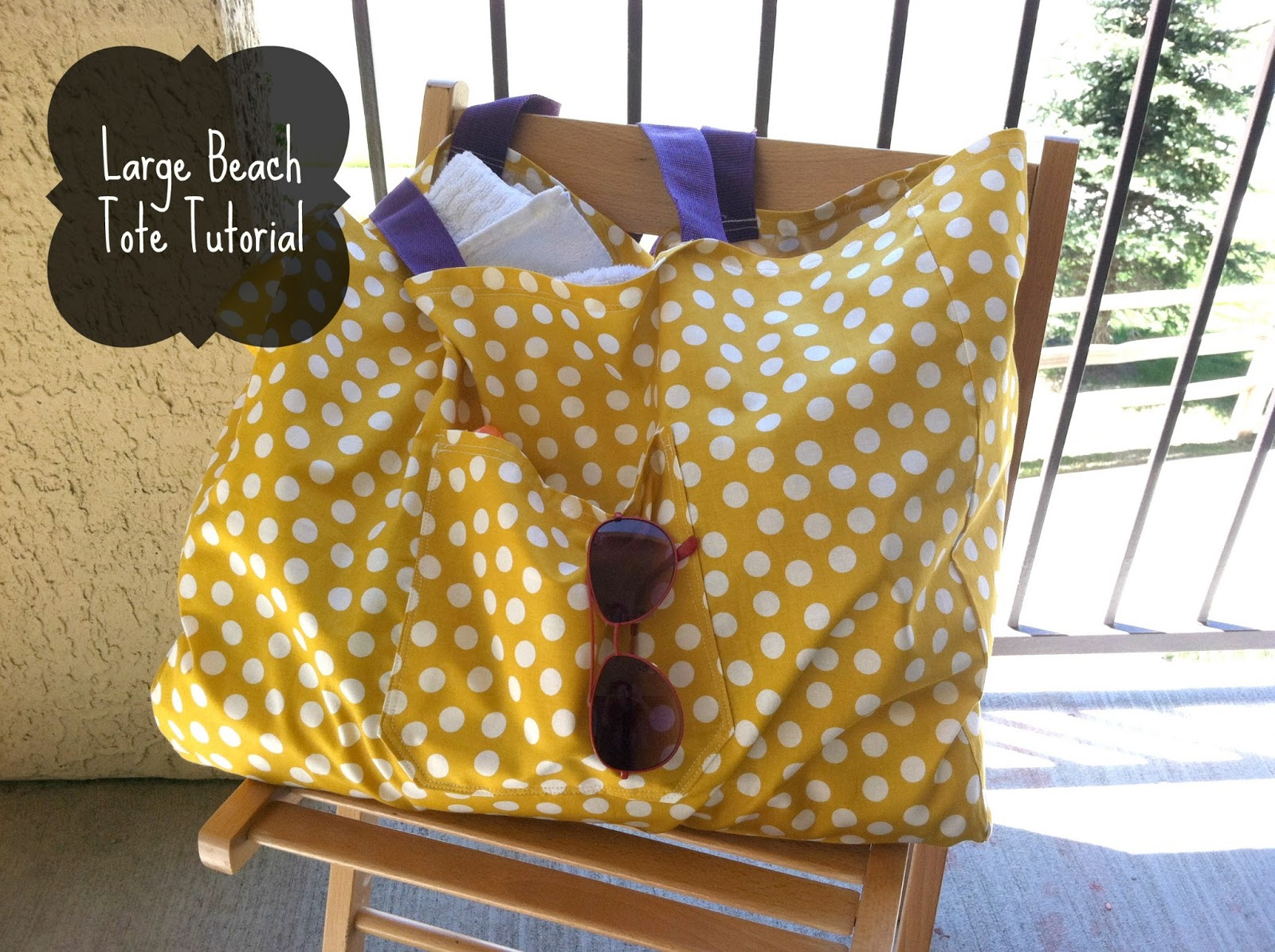 Little miss kims class large beach bag tote tutorial jeuxipadfo Gallery