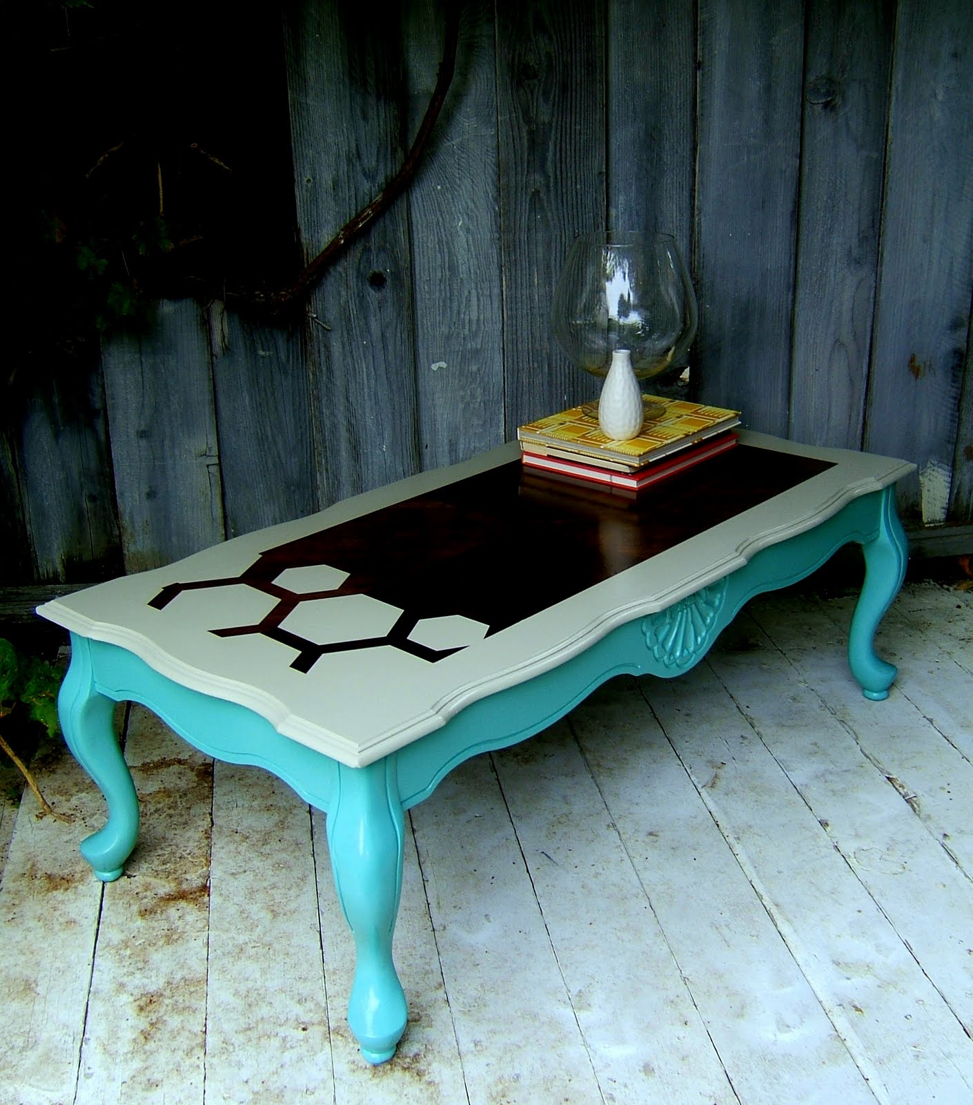 Post a comment for Teal coffee table