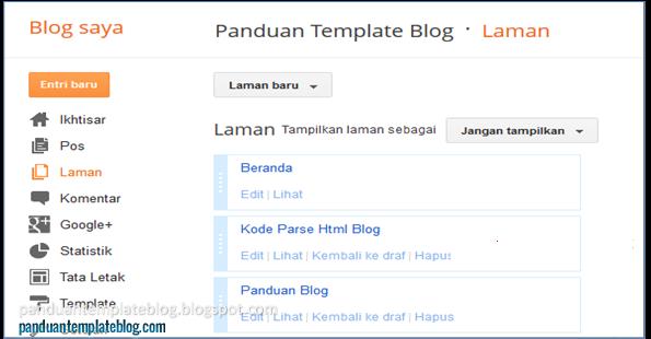 Halaman Blog: Tampilan Lama Laman Blogger