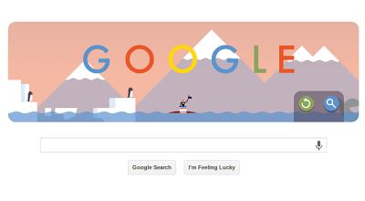 Google Doodle Parachute Display