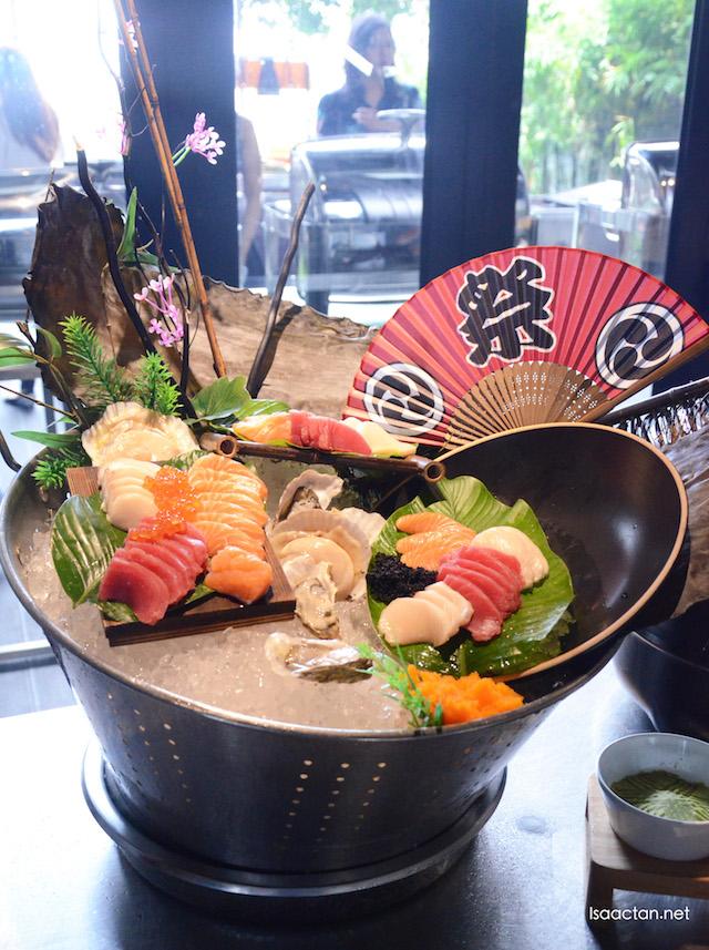 Fresh Sashimi at their Japanese section