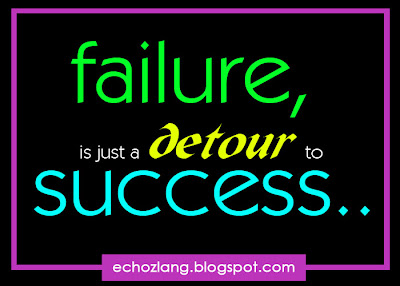 Failure is just a detour to success