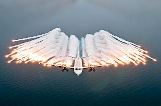 saab 2000 aew&c flares, saab 2000 flares