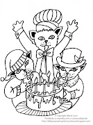 Dibujo de gatitos para imprimir y colorear. Dibujo de gatitos festejando un . dibujo de gatos para imprimir colorear
