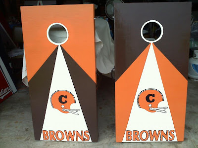 Browns Corn Hole Game Set