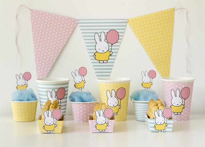 Plantilla para fiesta de cumpleaños Miffy