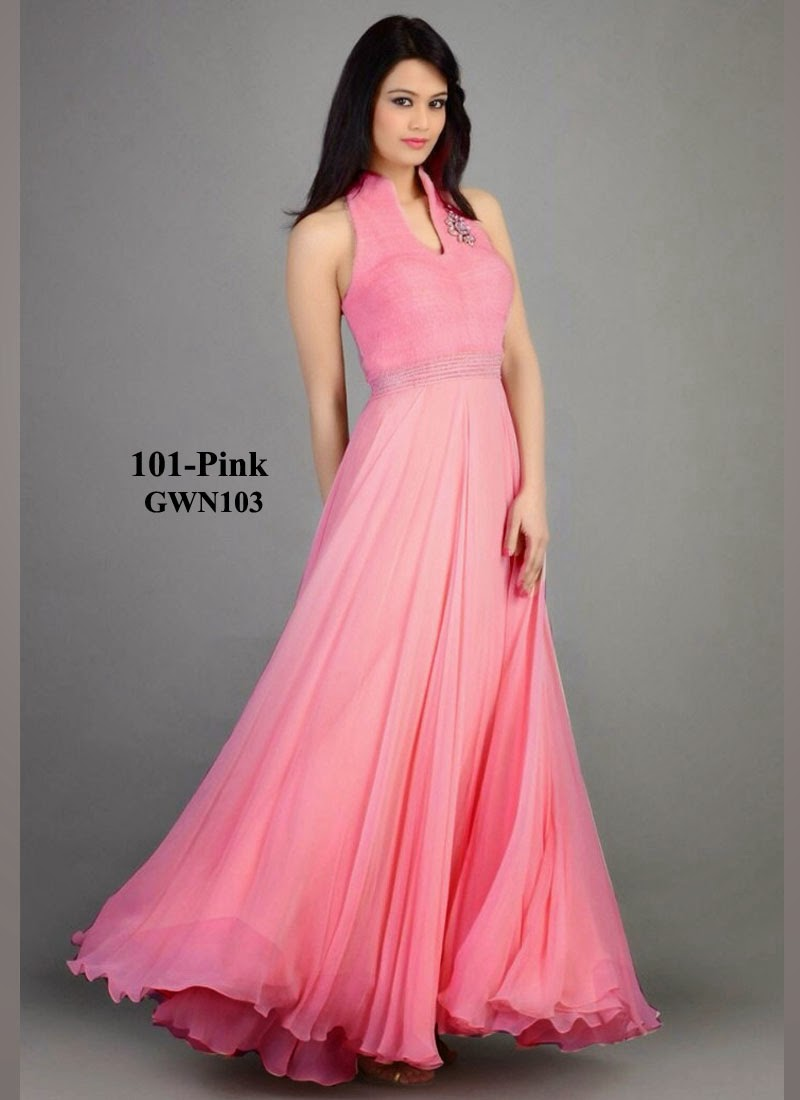 Buy Designer Simple And Beautiful Georgette Gown | Helix Enterprise