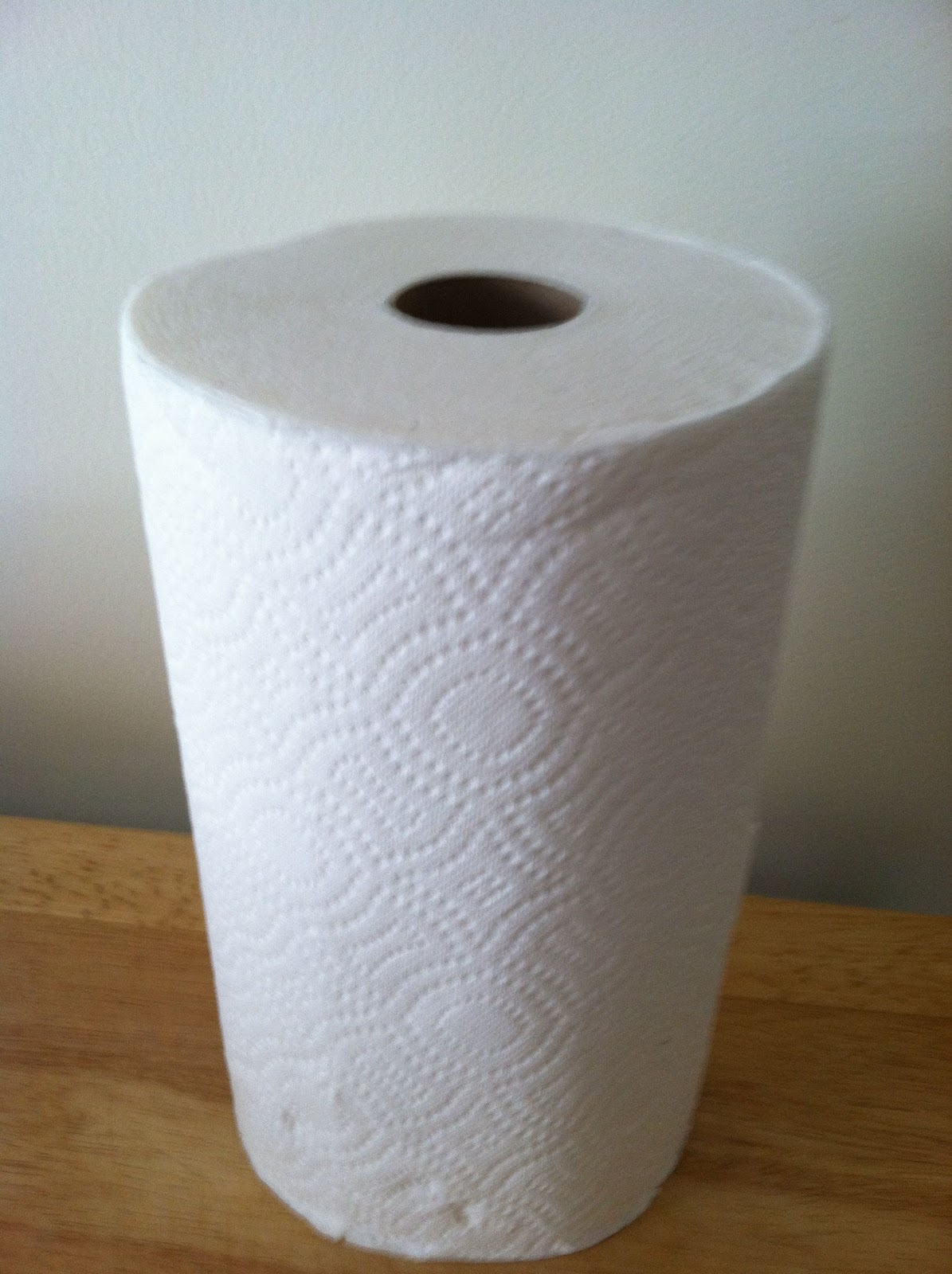 one thick paper towel)