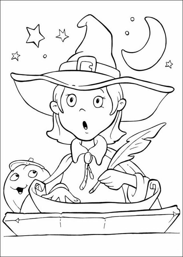 Brujas de Halloween para Pintar, parte 1