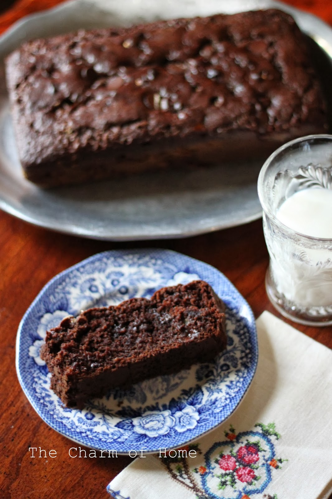 The Charm of Home: Chocolate Banana Bread with Marshmallow Bits