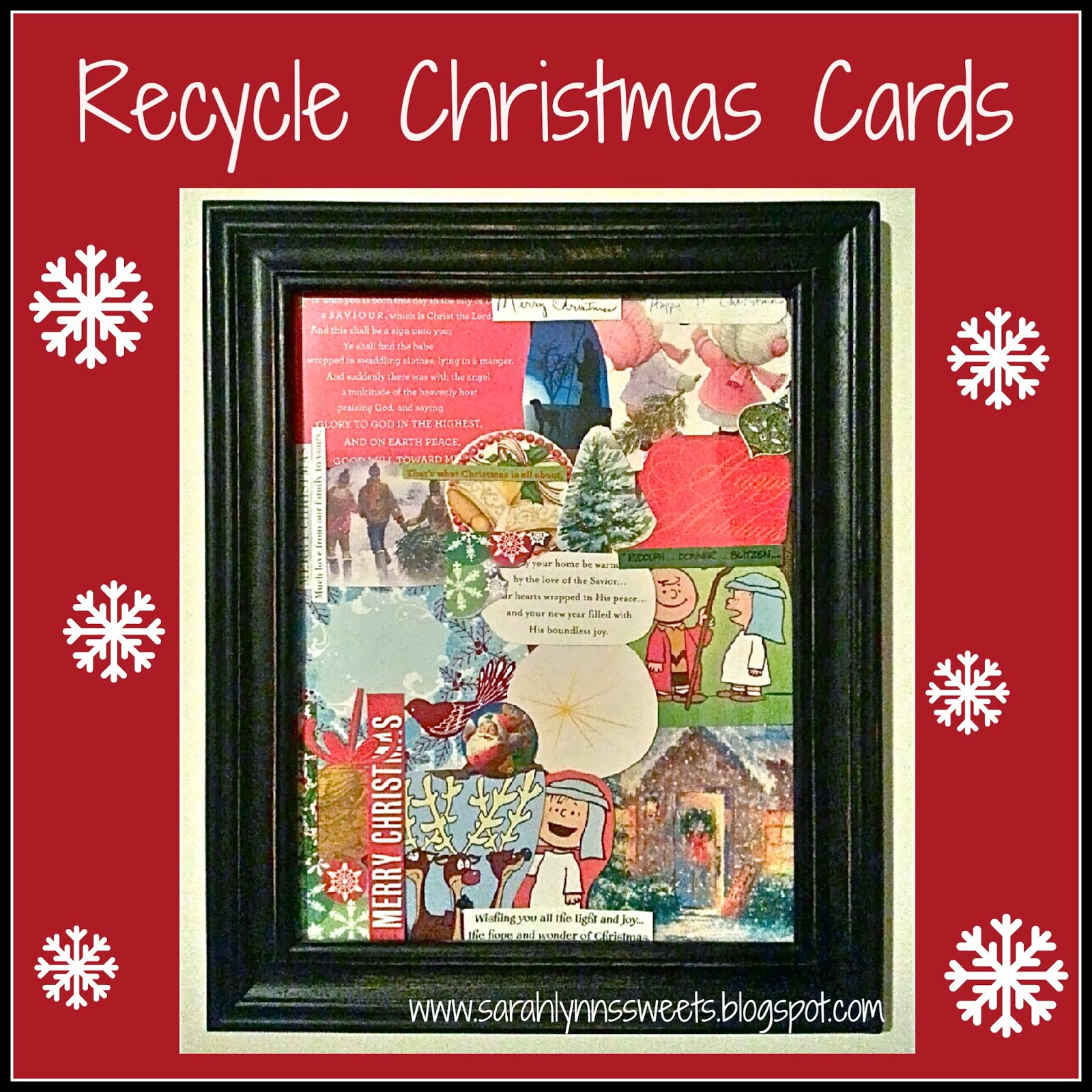 Collage Decor from Christmas Cards