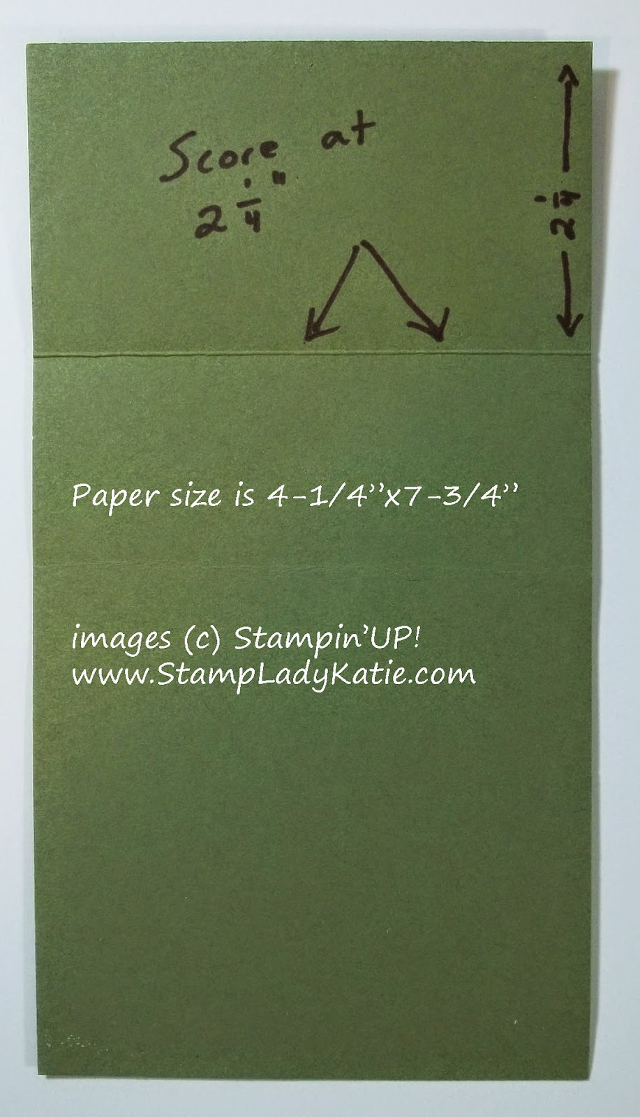 Dimensions for a Card made with Stampin'UP!'s Top Note Die