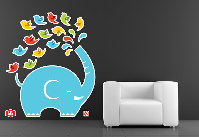 Yiying Lu wall decals, LTL Prints