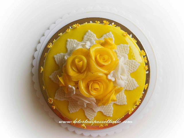 (PDZ-SAP) Torta rose gialle