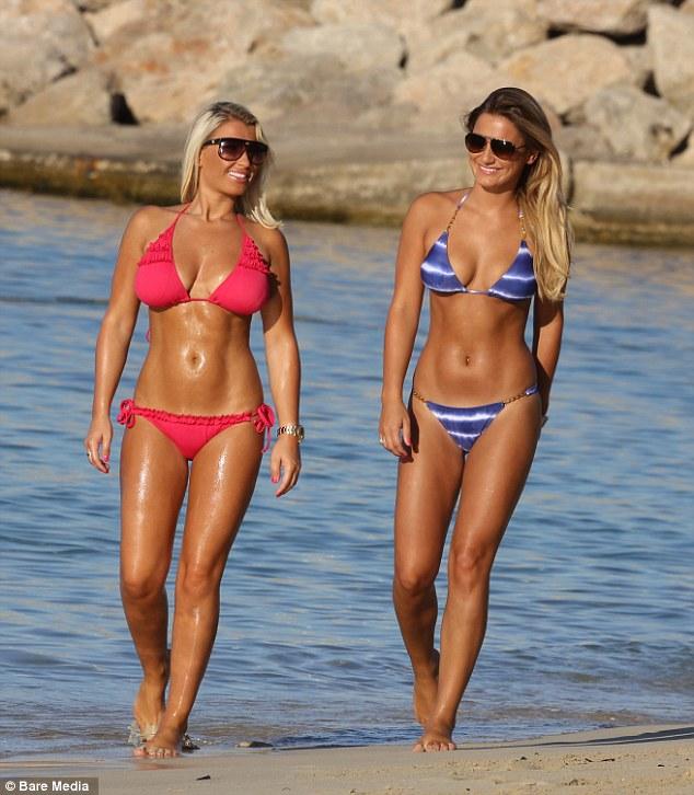 Sam and Billie Faiers Bikini