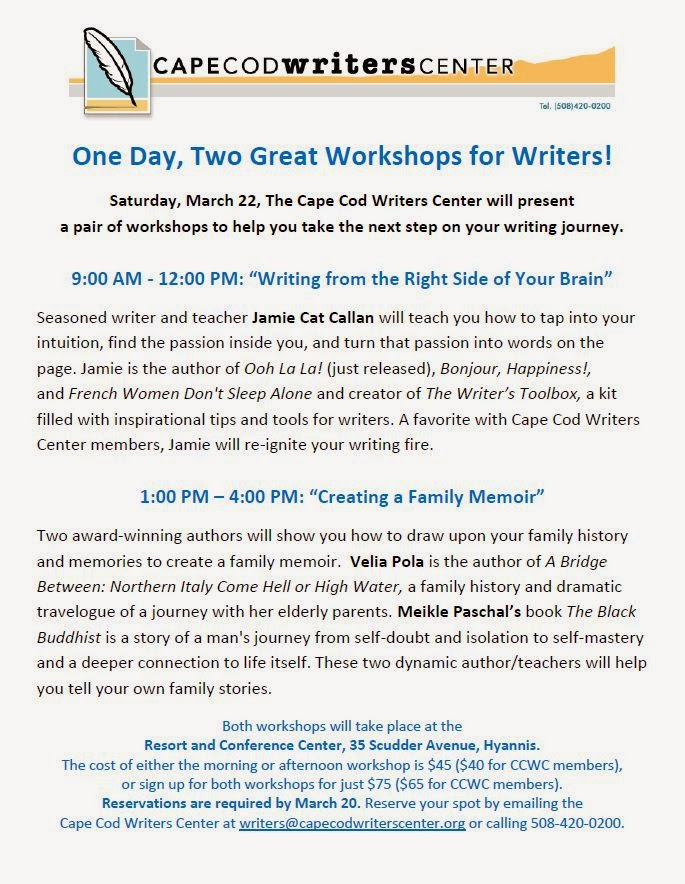 One Day, Two Great Workshops for Writers!