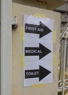 Bersih 4: Directions to the toilets, first aid and medical center