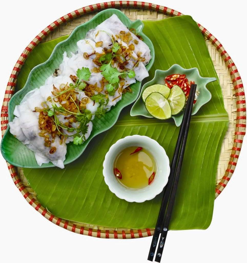 Rolled rice pancake ( Banh cuon )