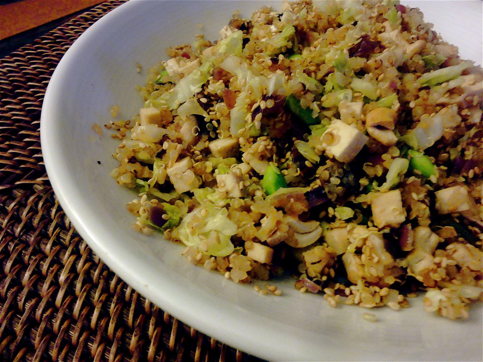 Diana Takes a Bite: Warm Quinoa Salad with Tofu, Shiitakes ...