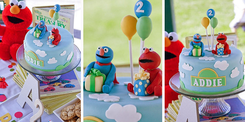 how to make sesame street characters out of fondant