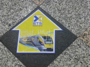 Taking ETS Train from Kuala Lumpur to Ipoh Malaysia
