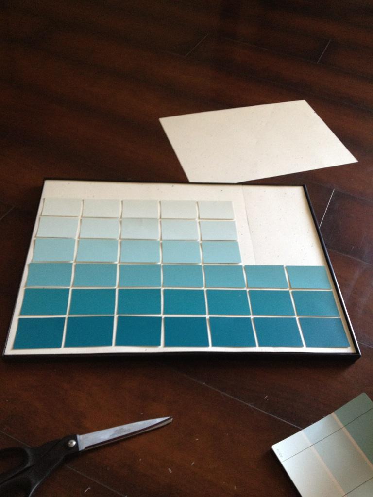 Diy Calendar Paint Chips : Classroom diy paint chip calendar