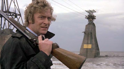Get Carter: A Still from the movie's stunning finale, the sniper takes an aim at Carter, Get Carter, Directed by Mike Hodges
