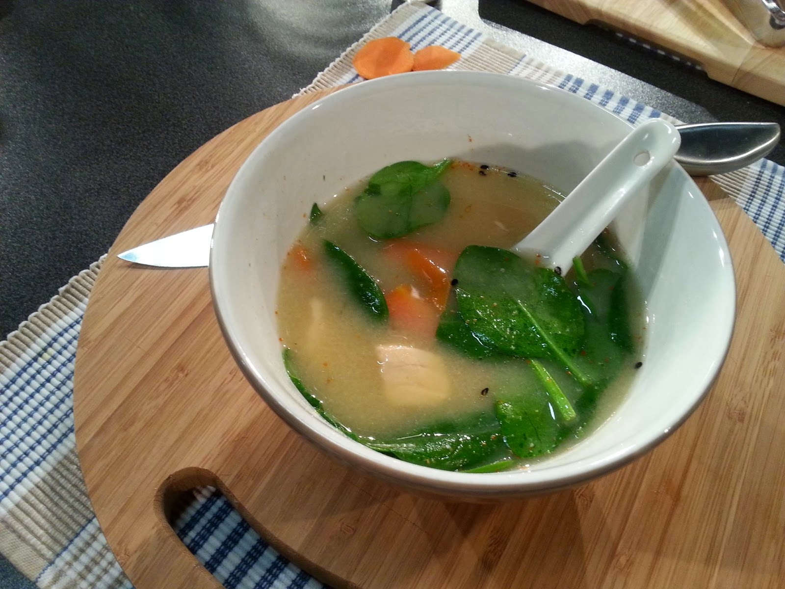 ... Japanese Cooking: Salmon & Spinach Miso Soup on TV3's Late Lunch ...