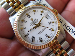 ROLEX OYSTER PERPETUAL DATE JUST BOY SIZE WHITE ROMAN DIAL - ROLEX BOY SIZE 68273-SERIE L YEAR 1991