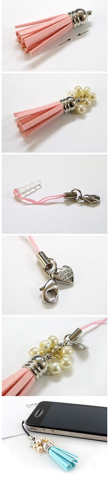 Diy- how to make leather charm, jewelry making step by step.