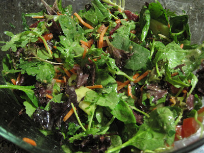 Vegan - Simple Side Salad with Shallot-Dijon Vinaigrette