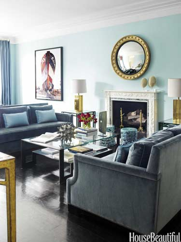 house beautiful traditional blue living room design
